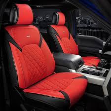 riu sc rdblk fza 1st forza series 1st row red seat covers with black accents for 1500 ram truck