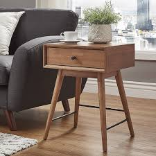 modern 1 furniture. Aksel Brown Wood 1-drawer End Table INSPIRE Q Modern 1 Furniture S