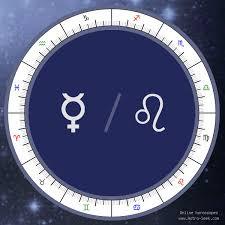 Mercury Sign Compatibility Chart Mercury In Leo Meaning Natal Birth Chart Mercury