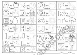 Live worksheets > english > english as a second language (esl) > the alphabet. Alphabet Coloring Esl Worksheet By Joyeej85
