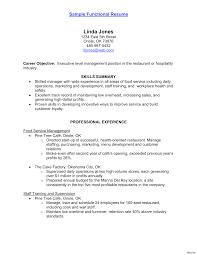 Wonderful Food Handler Resume Objectives Images Entry Level