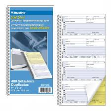 telephone message book self sticking telephone message book blueline
