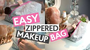easy zippered makeup bag sewing tutorial