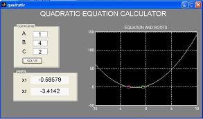 quadratic equation calculator shows how