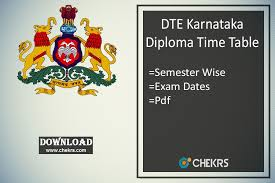 dte karnataka diploma time table btelinx nd th th sem exam dte karnataka diploma time table 2018