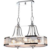 ina lares crystal cloud series cd2078 linear pendant chandelier 34 25 long x 22 wide x 26 tall prism shaped crystals chrome white glass bottom