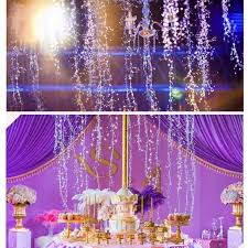 us acrylic crystal clear bead garland hanging chandelier decor wedding supplies