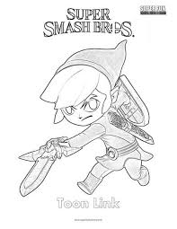 toon link coloring pages. Unique Coloring Toon Link Super Smash Brothers Coloring Page  On Link Pages
