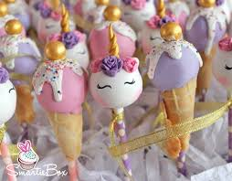 Unicorns And Ice Cream Cones In Soft Pink And Purples Cake Pops