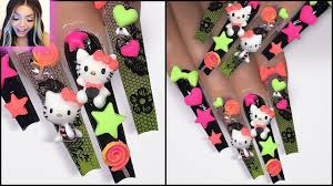 HOW TO: Easy 3d Trendy Kawaii Nail Art Using GEL POLISH ONLY