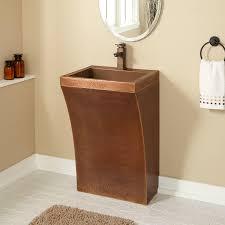 bathroom contemporary pedestal sink  signature hardware