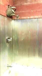 bathrooms s uni 2019 metal shower walls charming using corrugated for with best tin