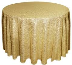 108 round table linens inspirational round sequined tablecloth champagne 108 eclectic