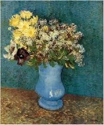 vincent van gogh vase with lilacs daisies and anemones painting