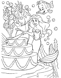 Small Picture Free Printable Little Mermaid Coloring Pages For Kids