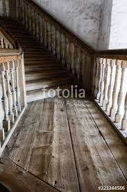 wooden spiral staircase in the ancient bell tower of the orthodox church