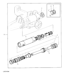 Removal of the power steering cylinder on a john deere 6310 with a front drive axle