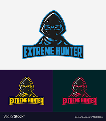 Gaming Logo Design Free Extreme Hunter Gaming Logo Design Template