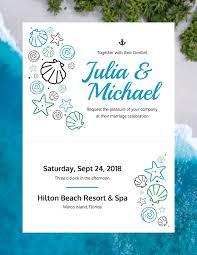 Beach Invitation Beach Wedding Invitation Template Template Venngage