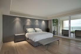 modern recessed lighting in bedroom