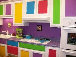 Really Colorful Kitchen