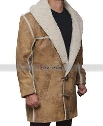 mens sherpa leather coat