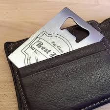best man gift bottle opener credit card