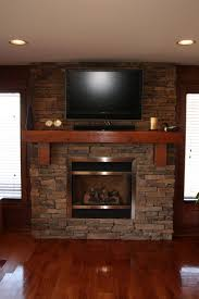 large size gas fireplace ideas with tv above cabin eterior