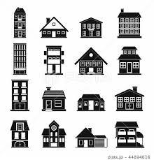 住宅 家 イラスト シンプルの写真素材 Pixta