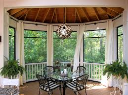 outdoor curtain rods with curtains