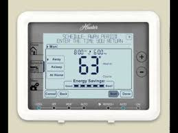 hunter thermostat 44905 wiring diagram hunter thermostat 44905 how to program a hunter® five minute thermostat model 44905