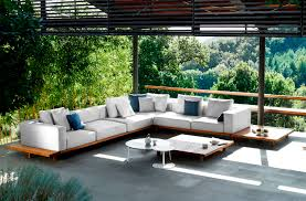 image of mid century modern patio furniture couch