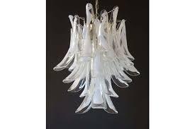 italian vintage murano chandelier in the manner of mazzega 30 glass petals photo