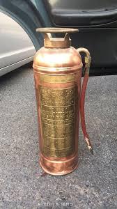 1920 antique buffalo fire extinguisher copper brass finish