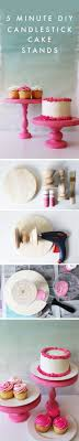 5 Minute DIY using wooden candlesticks, a round plaque and a glue gun! So  Cupcake  StandsDiy ...