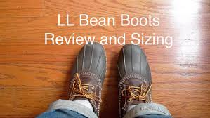 Ll Bean Jeans Size Chart Ll Bean Bean Boots Review And Sizing