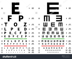 T Test Chart Eyes Test Chart Vision Testing Table Stock Vector Royalty