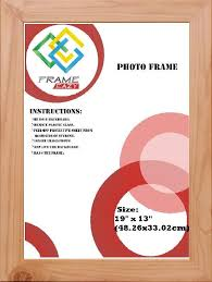 frameeazy plain photo picture frame 10 x 8 25 4 x 20cm pine