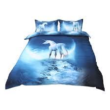 3d galaxy mysterious boundless bedding set 3pcs queen size white horse com