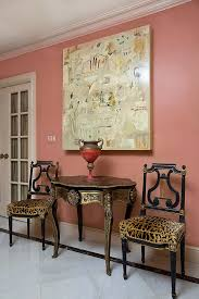 animal print dining room chairs skilful pic on hall eclectic with artwork