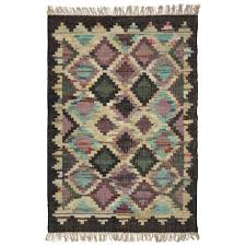 signature styles brown and lilac area rug 5x8 cotton in brown lilac
