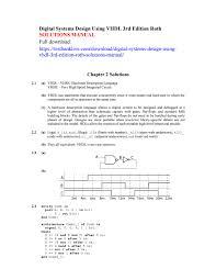 Digital Systems Design Using Verilog Solution Digital Systems Design Using Vhdl 3rd Edition Roth Solutions