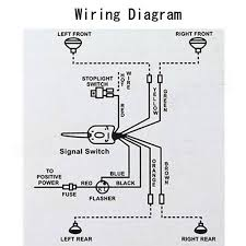 chrome 12v universal street hot rod turn signal switch for ford how to install a universal turn signal switch at Universal Turn Signal Wiring Diagram