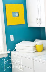 laundry room paint ideasRemodelaholic  25 Ideas for Small Laundry Spaces