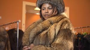 women s natural tanuki coat fox hat