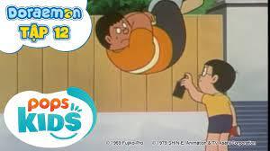 Doraemon Tập 12 - Súng Dịch Chuyển Thời Gian, Chất Dính Trên Không - Hoạt  Hình Tiếng Việt - Hôm