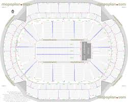 Xcel Energy Center Detailed Seat Row Numbers End Stage