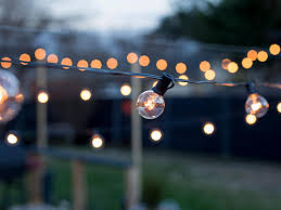 Hanging Lantern Lights String How To Hang Outdoor String Lights From Diy Posts Hgtv