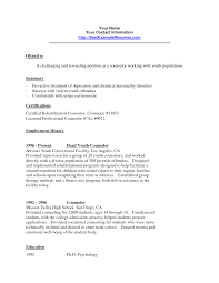 Direct Care Counselor Resume Nice Health Service Management Resume