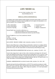 Office Medical Office Resume Sample